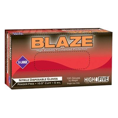 High Five Blaze 10.5'' Nitrile Exam Gloves 1000 Count Case Size: Medium by High Five Sportswear