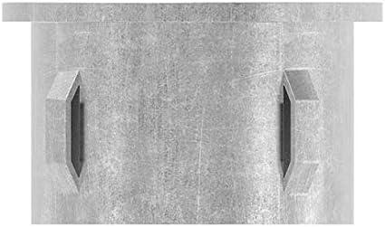 Stahl S235JR Stahlstopfen flach Fenau roh f/ür Rundrohr /Ø 33,7x2,5-2,9 mm mit M8
