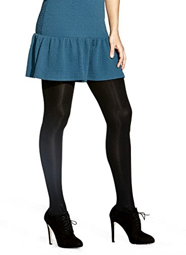 Opaque Sexy Tights Hosiery - No Nonsense Women's Super Opaque Control Top Tight, Black, X-Large