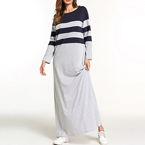 Islamiques Robe Tunique Femmes Moyen shirt Gray Vtements T Abaya Longues Long Musulmane Orient Femmes Zhhlaixing Ray nTWgOPFYqW