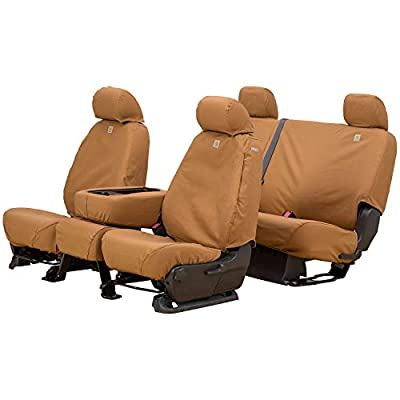 Covercraft Carhartt SeatSaver Front Row Custom Fit Seat Cover for Select Chevrolet/GMC Models - Duck Weave (Brown) - SSC2517CABN: Automotive