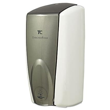 ct TC Autofoam Touch-Free dispensador, 1100 ML, Blanco/Gris Perla –
