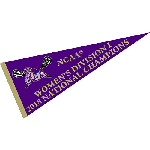 (College Flags and Banners Co. James Madison Dukes 2018 Womens Lacrosse Champions Pennant)