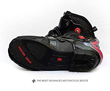 Velocidad de Motocross Yiwa Botas de Motocross Motociclista para Hombre Impermeables Suaves Antideslizantes