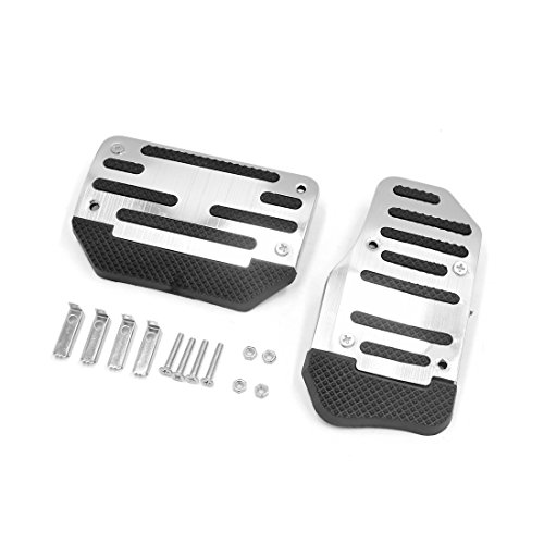 - uxcell 2 in 1 Racing Sports Non-Slip Automatic Car Gas Brake Pedal Pads Cover Black