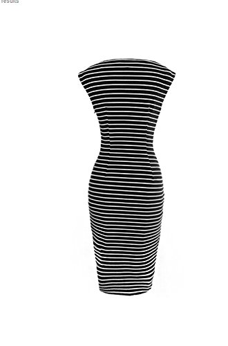 Viwenni Women's Summer Striped Sleeveless Wear to Work Casual Party Pencil Dress, XXL by Viwenni (Image #2)