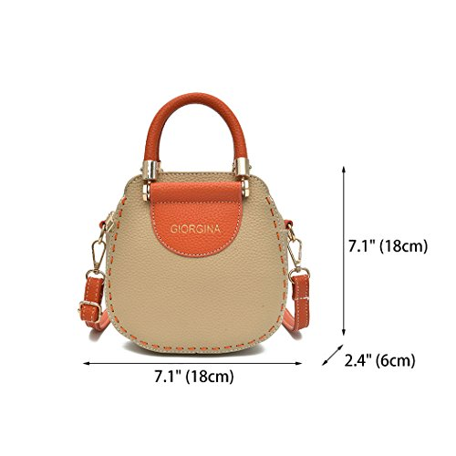Cross Handbags Bags Khaki Leather Top Handle Bags Body Women's Faux Shoulder Bags ZqXOOw