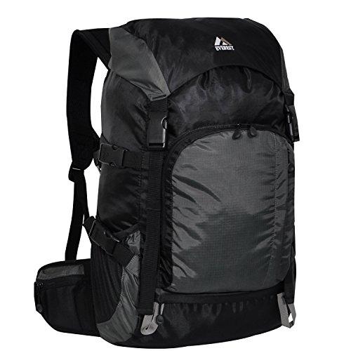 Everest Weekender Hiking Pack, Black Gray