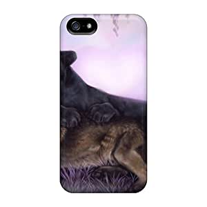 Rus12757zTZt Anti-scratch Cases Covers Protective Cougar Wolf Cases For Iphone 5/5s