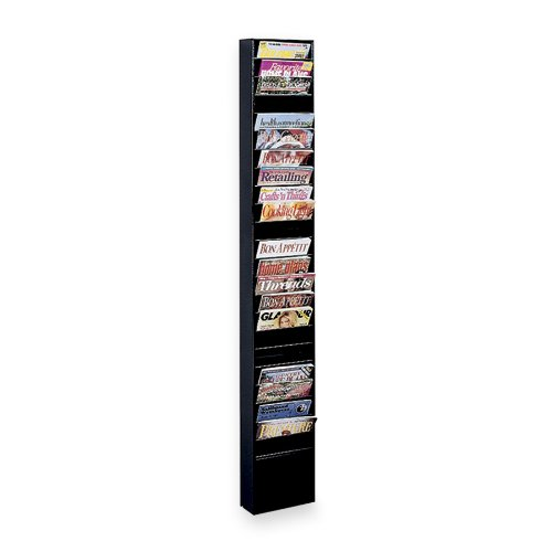 Buddy Products 23 Pocket Display Rack, Steel, 27.1 x 65.5 x 9.75 Inches, Black (0813-4) by Buddy Products