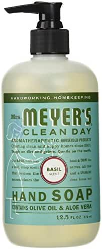 Mrs. Meyer's Clean Day Liquid Hand Soap, Basil, 12.5 Fluid Ounce