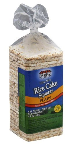 Paskesz Rice Cake Thin Square Plain, 4.9-Ounce Packages - (Pack of 3)