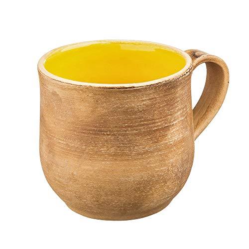 (Yellow pottery mug Rustic mug Pottery coffee mug Unique coffee mug Tea cup)