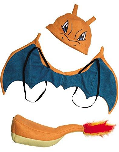 [Rubies Adult Charizard Pokemon Costume Kit Adult One Size] (Pokemon Costumes Adults)
