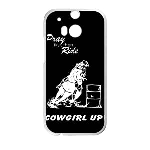 Canting_Good Barrel Racing Cowgirl Custom Case Shell Skin for HTC One M8 (Laser Technology)