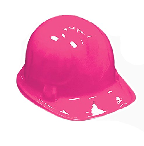 [PINK Kid's Plastic Miner Construction Hard Hats Set Of 12] (Man Construction Worker Costume)