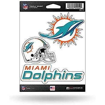 NFL Miami Dolphins Die Cut 3-Pie...