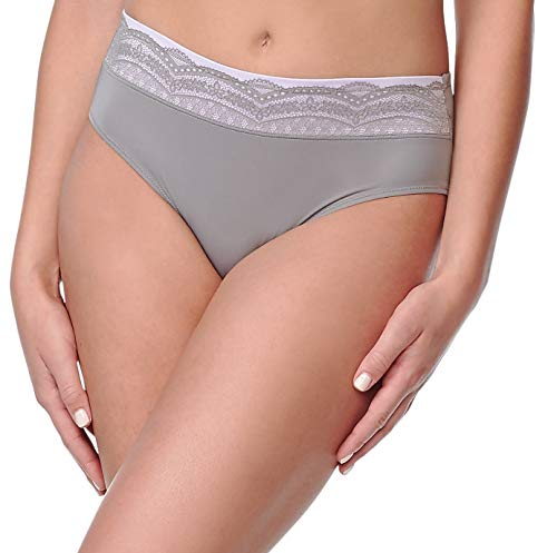 Warner's Women's Plus Size No Pinching No Problems Hipster Panty, Graphite Gray, 06 ()