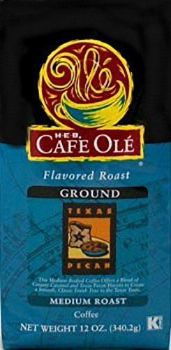 HEB Cafe Ole Ground Coffee 12oz Bag (Pack of 3) (Texas Pecan)