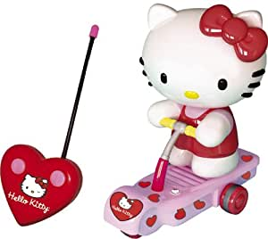 Hello Kitty Radio Remote Controlled Pink Scooter Figure Kids Toy Games Gift 9625