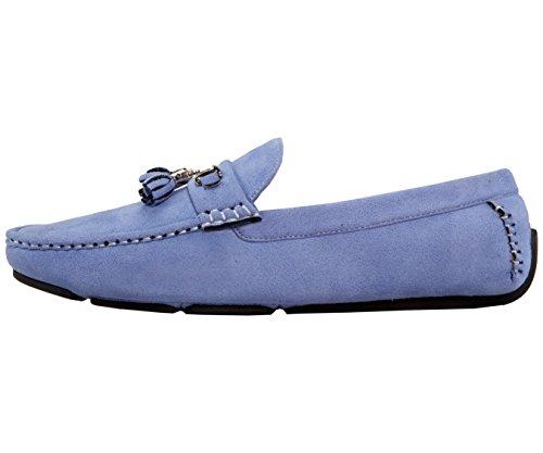 Amali Mens Nappa Driving Shoe, Confortevole Driver In Microfibra, Mocassino Casual, Tintore Stile Sky
