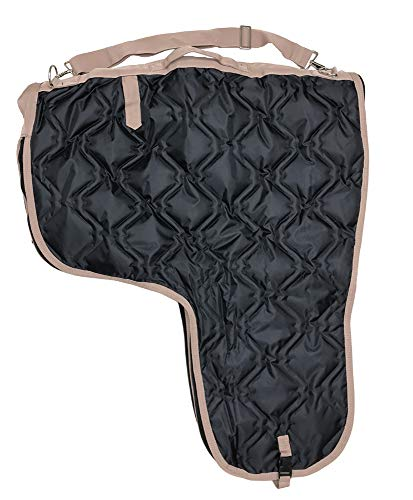 AJ Tack Wholesale Western Horse Saddle Carrier Cover Bag Large Poly Fill 420D Padded Black