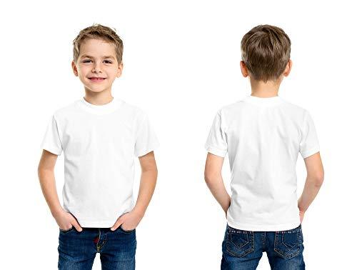 (Andrew Scott Boys' Cotton Crew Neck T Shirt Undershirts - Bonus Pack of 18 (Medium 10-12, 18 Pack - Bright White))