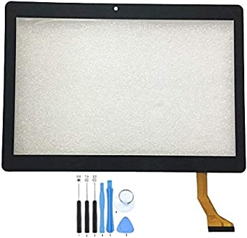 GR Touch Screen Digitizer Panel for Dragon Touch K10 10.1 inch Tablet PC Camera Position: Version A: Left Hole 108mm, Black