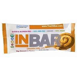 INBar 2041 Cinnamon Swirl Nutrition Bars, Pack Of 12
