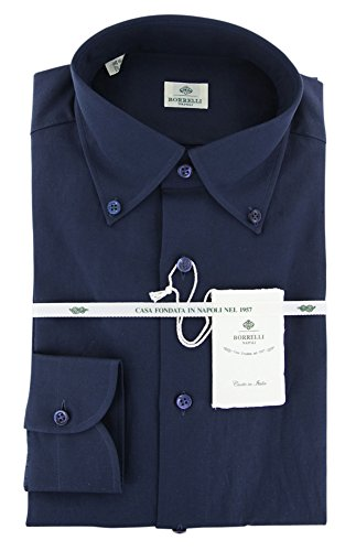 Luigi Borrelli New Dark Blue Extra Slim Shirt