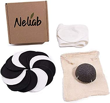Neliab Discos Desmaquillantes Reutilizables Ecológicos Bambú con ...