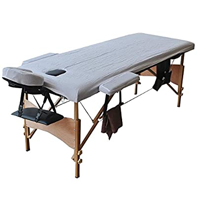 "Giantex 84""l Massage Table Portable Facial SPA Bed W/sheet+cradle Cover+2 Pillows+hanger"