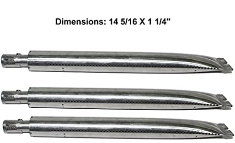 Stainless Steel Tube Burner Replacement (3-pack) for Broil King 9865-24, 9865-27, 9865-54, 9865-57, 9865-74, 9865-77, 986784, 986784C, 986787, 986787C, 9869-84R, (Broil King Signet)