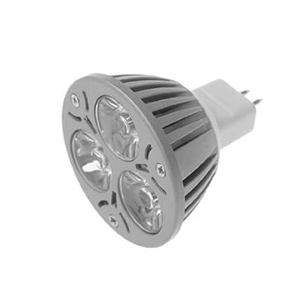eDealMax CA 12V 3W bola de 3 LED del proyector del bulbo blanco caliente - - Amazon.com