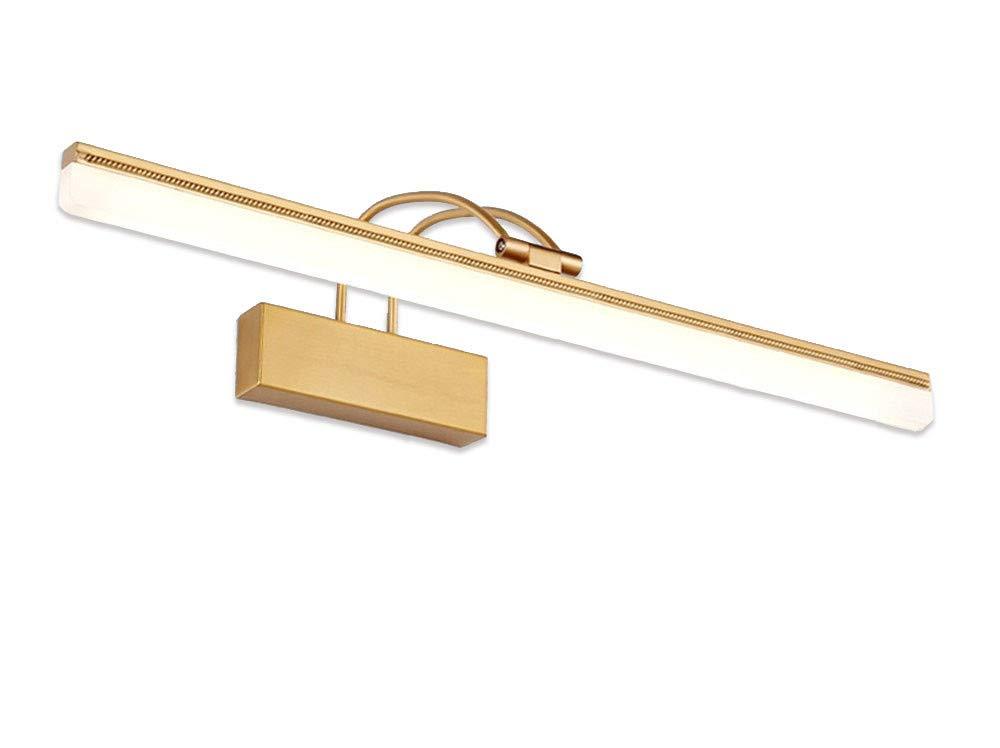 T-TWJQ LED Spiegel Scheinwerfer Bad WC Feuchtigkeit Lampe Gold Bad Lampe Schminktisch Spiegel Beleuchtung, Kupfer, 73cm15W