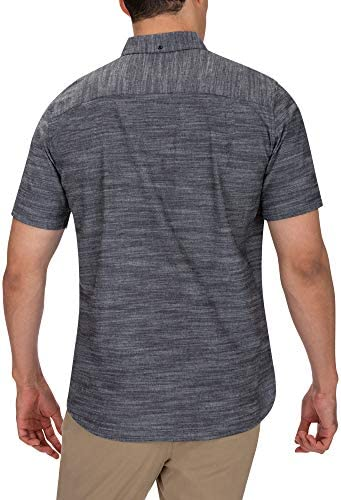 HURLEY MEN'S ONE AND ONLY TEXTURED SHORT SLEEVE BUTTON UP