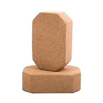 JIGAN Bloque de Yoga Cork, Cork Yoga y Pilates Block ...