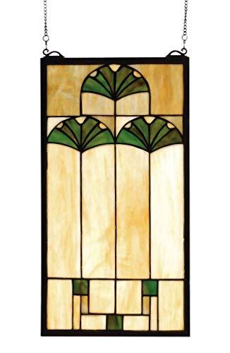 Ginkgo Stained Glass Window - Meyda Tiffany 67787 Ginkgo Stained Glass Window, 11