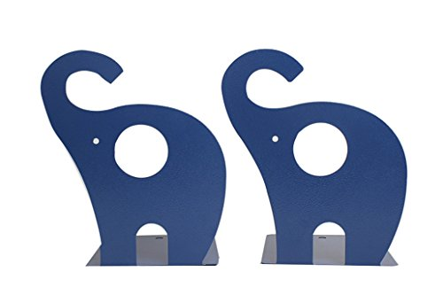 Cute Cartoon Elephant Shape Nonskid Metal Bookends for Kids Gift - Bookends Childrens