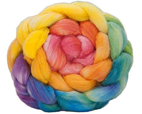 Kim Dyes Yarn Hand-Dyed Gradient Spinning Fiber (Polwarth/Silk, Macaron Gradient)
