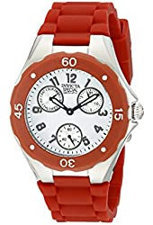 Invicta 18789 Women's Special Edition Couture Multi-Function Red Silicone White Dial