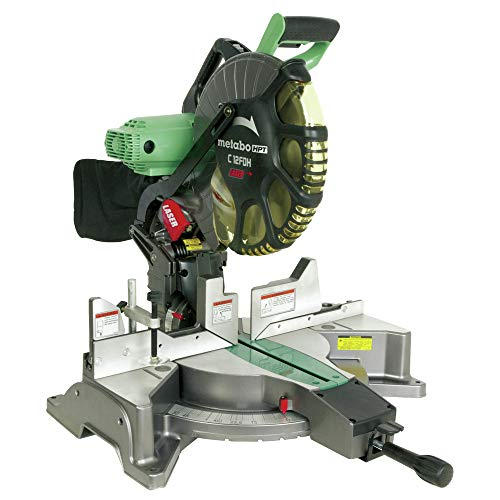 Metabo HPT C12FDHMR 12 in. Dual Bevel Miter Saw with Laser Guide (Renewed)