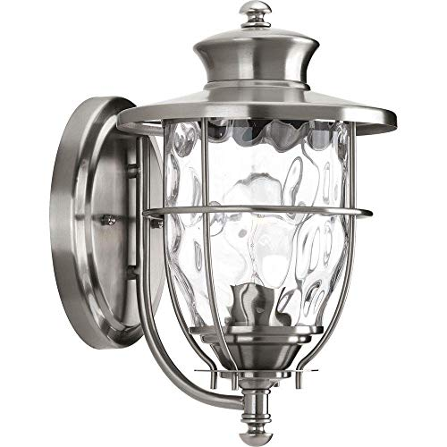 Fixtures Lighting Collection Outdoor (Progress Lighting Beacon Collection Wall-Mount 1-Light Outdoor Stainless Steel Lantern)