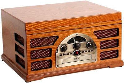 Amazon.com: Tocadiscos retro de madera 3 velocidad Record ...