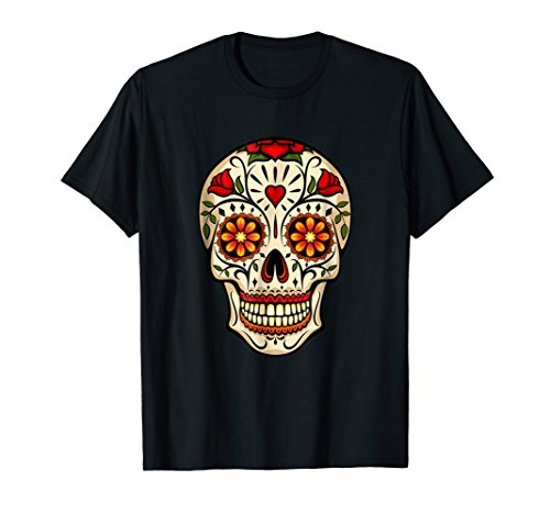 Men Women Kids Flower Sugar Skull Costume Tshirt