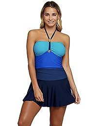 Otras marcas Traje de baño para Dama Completo Vestido Azul Tallas Extras