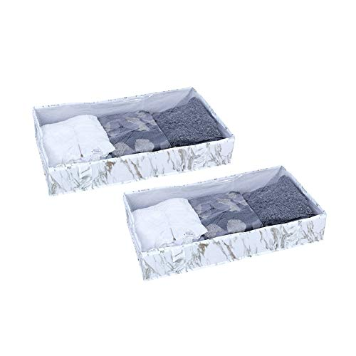 (MustQ Underbed Storage Bag (Pack of 2) Breathable Storage Bags for Blankets Clothes, Sweater)