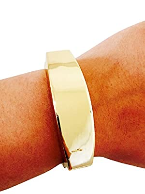 """Fitbit Bracelet for Fitbit Flex Activity Trackers - The TORY 7"""" Inch Gold Bangle Fitbit Bracelet"""