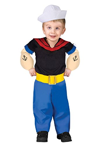 [8eighteen Popeye The Sailor Man Toddler Halloween Costume] (Popeye Plus Size Adult Mens Costumes)