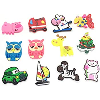 14PCS Animals/Cartoon Fridge Magnets Whiteboard Sticker Rubber Refrigerator Magnets for Home Decoration Educational Kids Gift